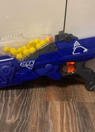 Детский игрушечный Автомат бластер с мягкими пулями на батарейках