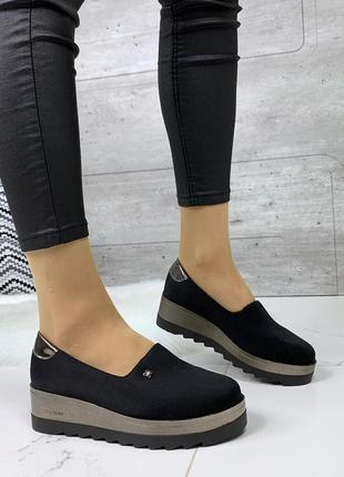 Лёгкие удобные туфли на платформе