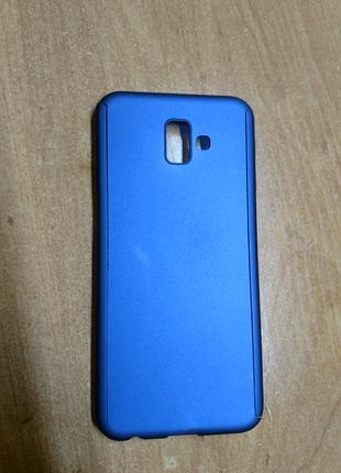 Чехол для Samsung galaxy J6 plus, защитное стекло в подарок.
