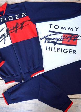 """✅ теплый костюм для подростка 3-ка с джемпером """"tommy hilfiger..."""