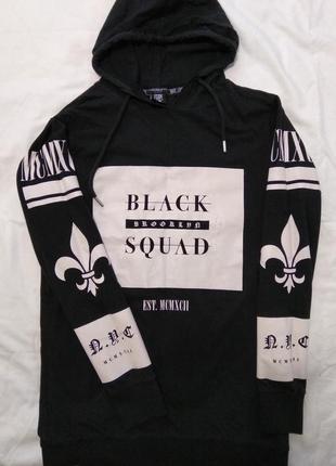 Крутая молодежная худи свитер пуловер свитшот линии black squa...