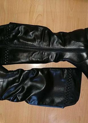 Зимние сапоги большой размер 43 р кожа