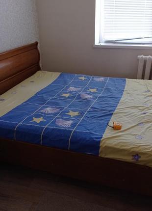 Кровать двухспальная с матрасом ортопед!