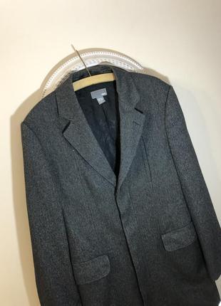 Серое длинное пальто мужское чоловіче пальто h&m 46