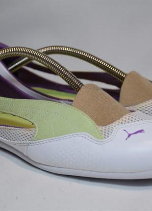Балетки puma winning diva босоножки женские кожаные. оригинал....