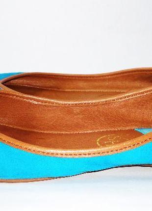 Балетки кожаные туфли замшевые р.39
