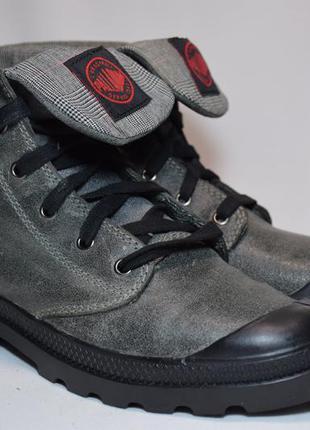 Ботинки кожаные palladium baggy leather высокие кеды. оригинал...