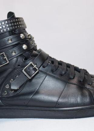 Высокие кроссовки кеды saint laurent 16h studded мужские итали...