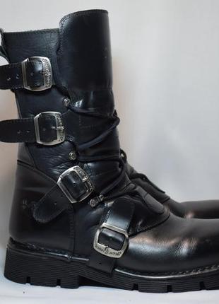 Ботинки new rock сапоги кожаные. испания. оригинал. 42 р./ 27....