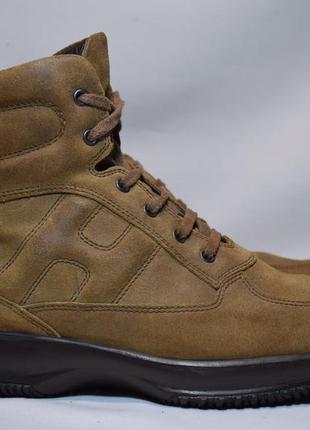 Ботинки hogan мужские кожаные. италия. оригинал. 42 р./27.5 см.