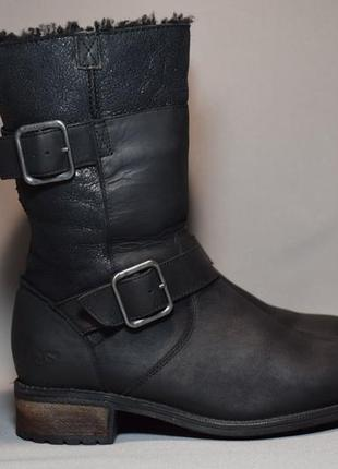 Угги ugg australia leather сапоги ботинки зимние женские овчин...