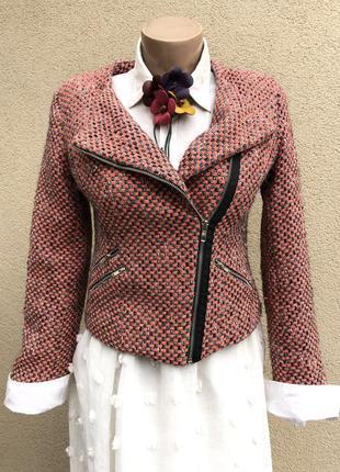 Укорочен. жакет,пиджак,куртка-косуха,твид,букле,шерсть+хлопок,...