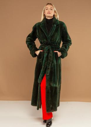 Шуба из канадского бобра в длине 130см шикарная стильная вещь ...