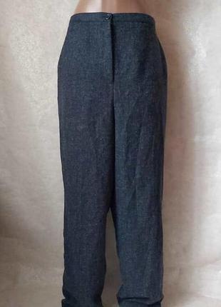 Фирменные larry levine стильные штаны/брюки в тёмно минем цвет...