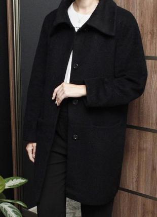 Базовое шерстяное пальто бойфренд marks&spencer