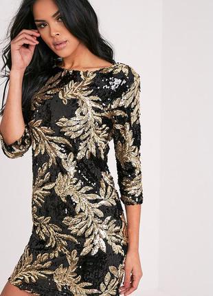 Красивое платье в пайетку prettylittlething