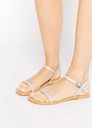 Кожаные босоножки, сандалии 39 размер (24 - 25 см.) от asos