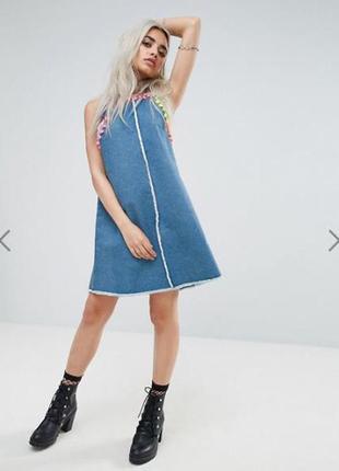 Распродажа!!! джинсовое платье сарафан от jaded london