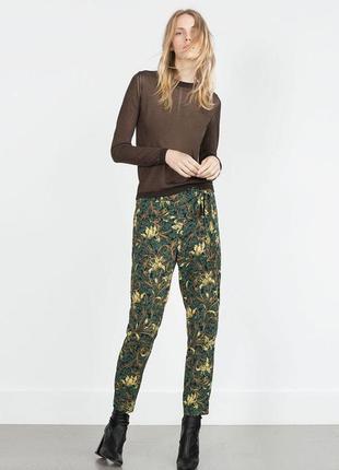 Распродажа!!! лёгкие брюки, штаны в цветочный принт с имитацие...