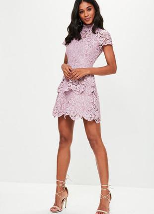 Платье гипюр, кружево, нарядное от missguided