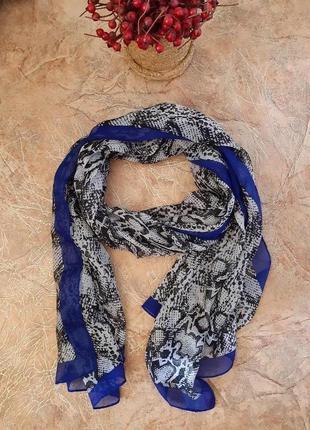 Шарф, шарфик в змеиный принт от bm- accessories