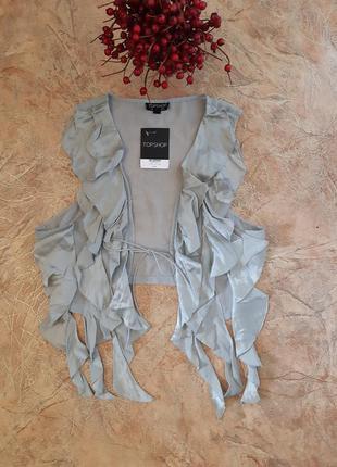 Распродажа!!! шелковая,укороченная блуза,топ,жилет, накидка с ...