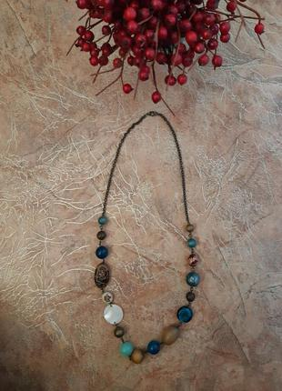 Ожерелье, бусы, колье бирюзовые
