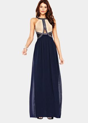 Нарядное, выпускное, вечернее длинное платье бисер, пайетки от...