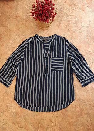 Блуза, рубашка  в полоску с карманом свободного кроя от primark