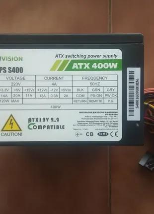 Блок питания GREENVISION GV-PS400 400W новый