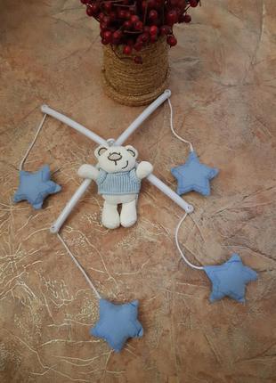 Мобиль в кроватку - мишка, звезды