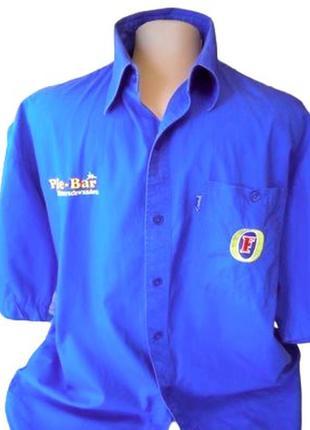Мужская рубашка синего цвета fosters, большой размер