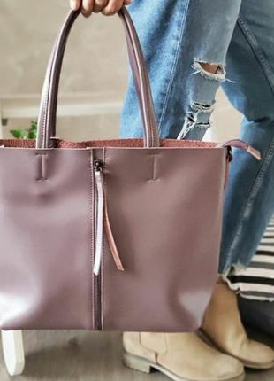 Женская кожаная сумка большая из натураоьной кожи жіноча шкіря...