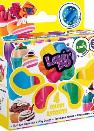 Набор теста для лепки ОКТО 41027 LOVIN'DO Ассорти 4 цвета