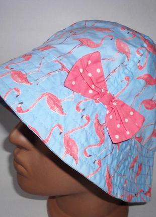 Панамка  tu 7-10 лет розовый фламинго 54см