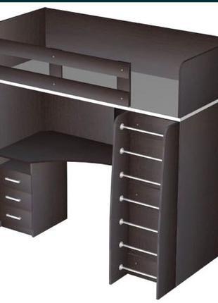 Кровать чердак со столом шкафом и матрасом в Подарок!