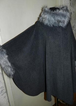 Асимметричное манто-кардиган-кейп-лёгкое пальто,бохо,мега бата...