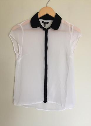 Шифоновая блуза bershka, блузка р.s