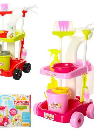 Детский набор для уборки 667-33-35 тележка