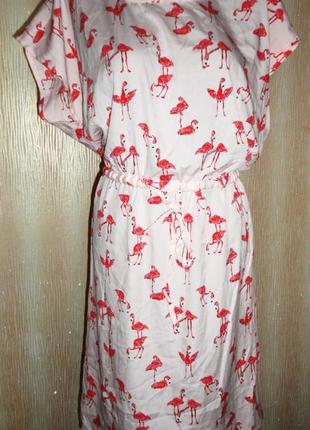 Платье розовый фламинго р.18