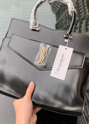 Yves saint lauren сумка тоут классика кожа