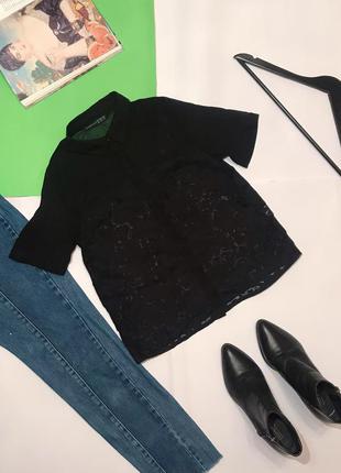 🔻🔻🔻 шикарная блуза чёрная футболка фактурная atm xs