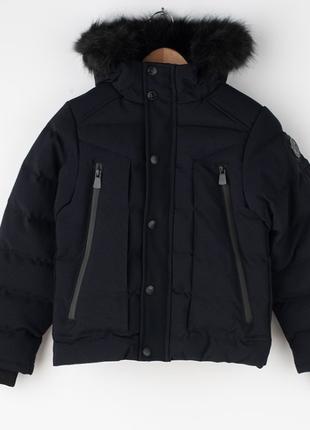 Зимняя куртка парка geographical norway dandy 12 лет чёрный