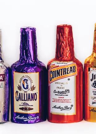 Конфеты Anthon Berg набор шоколадных бутылочек с алкоголем внутри
