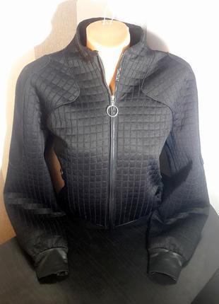 Распродажа стильный фактурный бомбер лонгслив куртка
