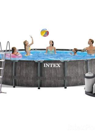 Каркасный бассейн Intex 26744, 549 x 122 см (5 678 л/ч, лестни...