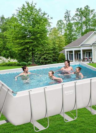 Прямоугольный каркасный бассейн Bestway 56457 (412х201х122 см)...