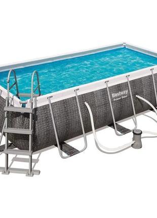 Каркасный бассейн Bestway 56721 404 х 201 х 100 см (лестница)