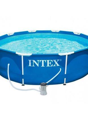 Бассейн каркасный Intex 28202 305х76 см Фильтр насос