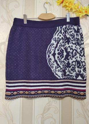 Новая теплая юбка на резинке, большой размер, etam.